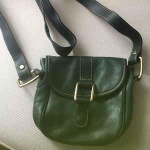 Charter Club Green Leather shoulder small purse